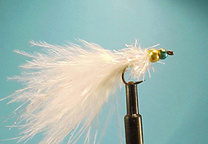 Mouche Lm2g streamer plombé - ST29 - White Rainbow Warrior  h10