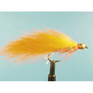 Mouche Lm2g streamer plombé - ST45 - Orange Zonker  h10