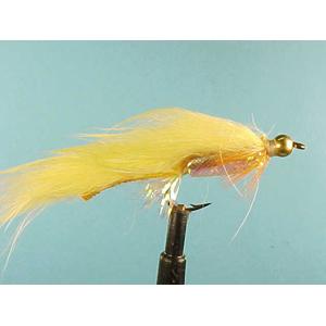 Mouche Lm2g streamer plombé - ST46 - Yellow Zonker  h10