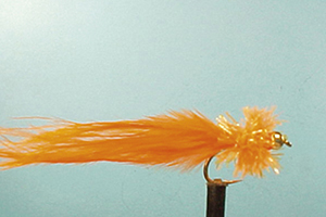 Mouche Lm2g streamer tungsten - ST52 - orange Taddy  h10