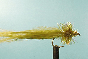 Mouche Lm2g streamer tungsten - ST53 - Olive Taddy  h10