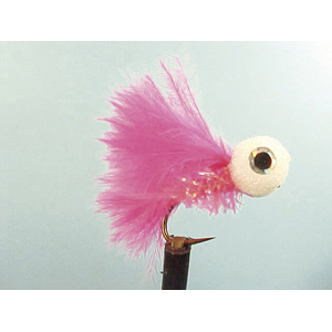 Mouche Lm2g streamer léger - ST68 - Pink Straggler Booby  h10