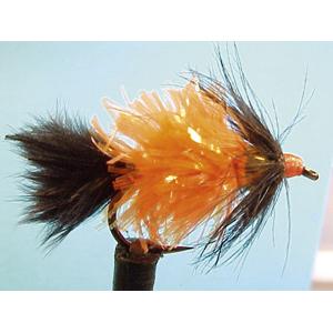 Mouche Lm2g streamer plombé - ST8 - Orange Stripper  h10