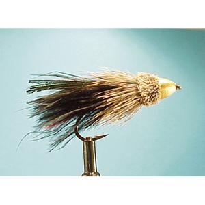 Mouche Lm2g streamer tête cône ou haltère - ST89 - Black Marabou  h6