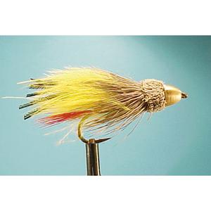 Mouche Lm2g streamer tête cône ou haltère - ST90 - Yellow Marabou  h6