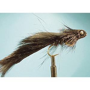 Mouche Lm2g streamer tête cône ou haltère - ST92 - Black Muddler Dumbell  h8