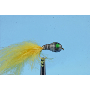 Mouche Lm2g streamer plombé - ST47A - Black Head Sunburst  h12