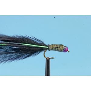 Mouche Lm2g streamer plombé - ST47B - Black Rainbow Bug  h12