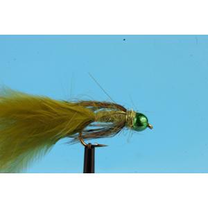 Mouche Lm2g streamer plombé - ST47D - Green Bead Damsel  h10