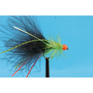 Mouche Lm2g streamer plombé - ST47E - Black & Green Hot Legs h10