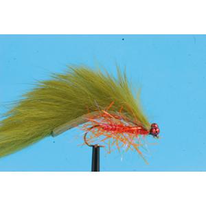 Mouche Lm2g streamer plombé - ST47H - Olive & Orange Crystal Zonker h10