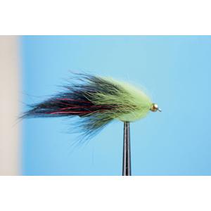 Mouche Lm2g streamer plombé - ST47J - Black-Chartreuse h10