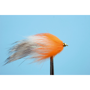 Mouche Lm2g streamer plombé - ST47L - Grey-White-Orange h10