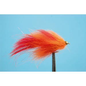 Mouche Lm2g streamer plombé - ST47N - Red-Orange Barred h10