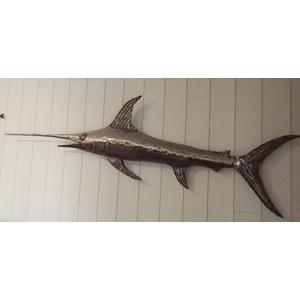 Sculpture Métal Le Moulin de Gémages - Grand poisson à rostre
