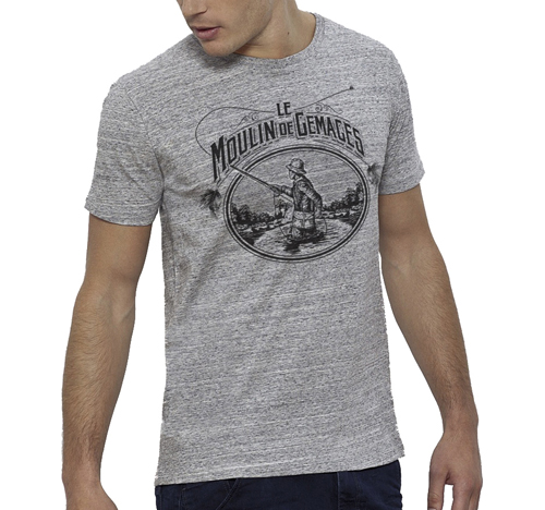 T-Shirt Lm2g - Vintage Gris Chiné- Taille S