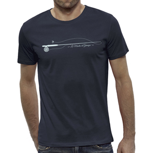 T-Shirt Lm2g - Design Bleu Marine- Taille S