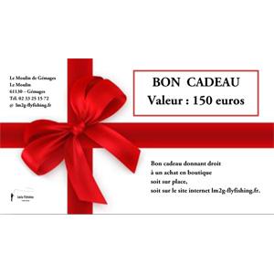 Bon cadeau d'une valeur de 150 euros
