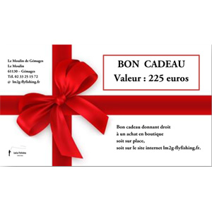 Bon cadeau d'une valeur de 225 euros