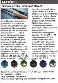Canne winston air moulinet Abel indicateur réglable NAF