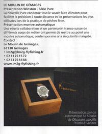 montre suisse le moulin de gemages et canne mouche  winston pure