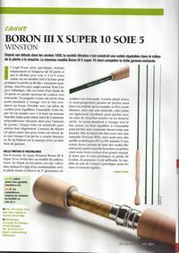 canne à mouche Boron III Super 10 soie 5 winston