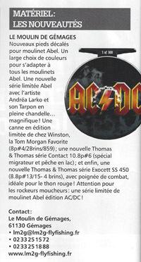 MOULINET MOUCHE ABEL AC DC LE MOULIN DE GEMAGES