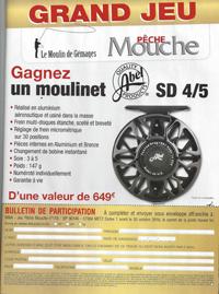 Jeu concours pêche moulinet mouche abel SD 4/5