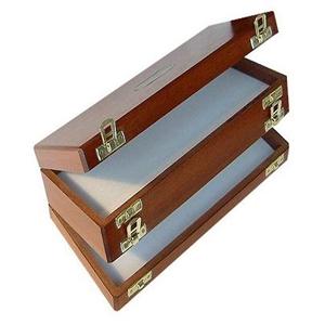 Boîte à mouches Richard Wheathley - Modèle mallette Acajou