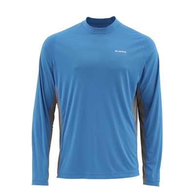 T-Shirt Simms - Solarflex Ls Crewneck Solids - Taille S - Cobalt