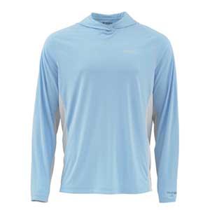 T-Shirt Simms - Solarflex Hoody - Taille S - Glacier