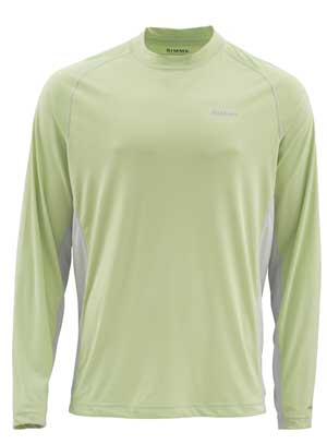 T-Shirt Simms - Solarflex Ls Crewneck Solids - Taille S - Light Green