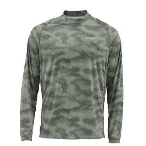 T-Shirt Simms - Solarflex Crewneck Print - Taille S - Camo Loden