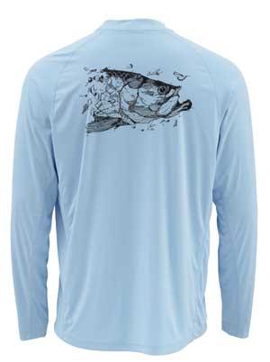 T-Shirt Simms - Solarflex Ls Crewneck Graphic Prints - Taille S - Tarpon Glacier