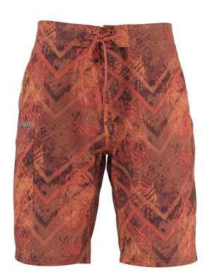 Short Simms - Surf Short - Print Velocity Print Orange - Taille S