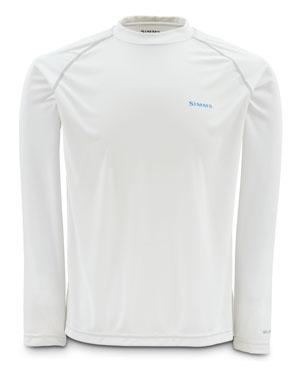 T-Shirt Simms - Solarflex Ls Crewneck Solids - Taille S - White