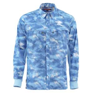 Chemise Simms - Intruder Bicomp - Taille S - Camo Sky Blue