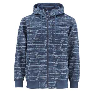Veste Simms - Rogue Fleece  Hoody- Taille S - Water Print Dusk