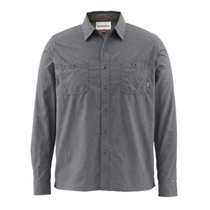Chemise Simms - Black's Ford Flannel Shirt - Taille S - Solid Nightfall