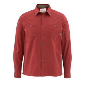 Chemise Simms - Black's Ford Flannel Shirt - Taille S - Solid Ruby