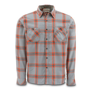 Chemise Simms - Black's Ford Flannel Shirt - Taille S - Fury Orange Plaid