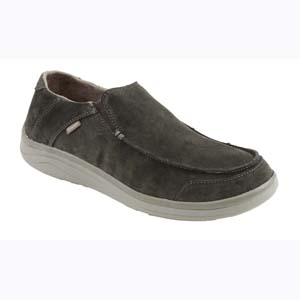 Chaussures Simms - Westshore Leather Slip on shoe - Taille 40 Dark Olive