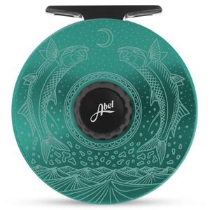 Moulinet Abel Super Série 4/5 avec gravure Casey Underwood - Moondance - Turquoise